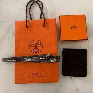 Hermès bag, box, felt dust bag and ribbon